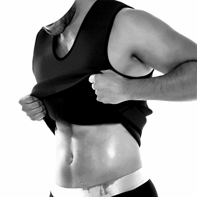 Формирователь для мужчин, из неопрена жилет сауна корректирующая одежда для потовыделения ультра корсет для похудения Сжигание жира в области живота Абдо Для мужчин уменьшить сжатия майки