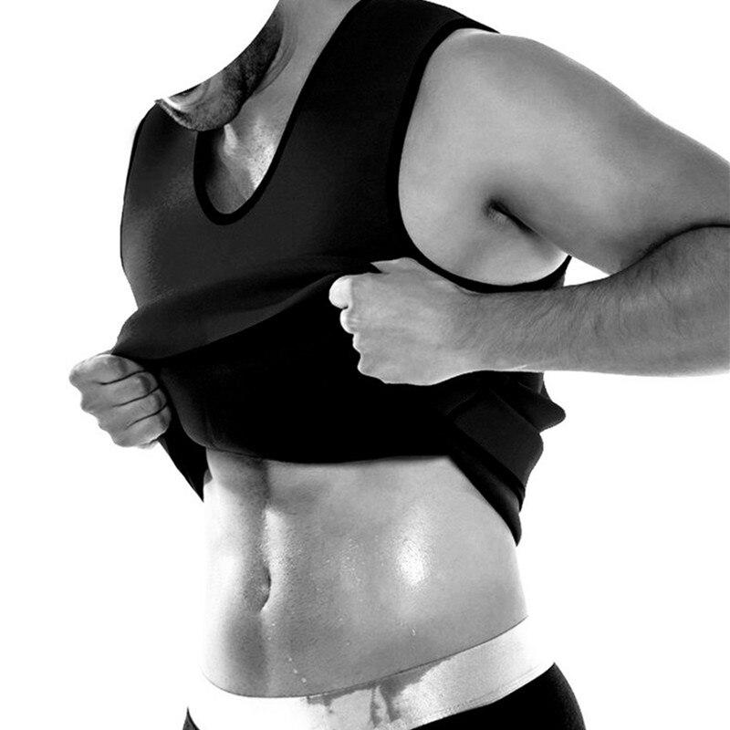 Hot Shapers Men Neoprene Vest Sauna Sweating Shapewear Ultra Slimming Corset Belly Fat Burning Abdomen Reduce Compression Tanks