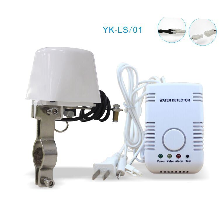 Home Water Detector Alarm System Water Leaking Alarm Sensor with Valve Manipulator and Sensitive 2 Pin Water Probe russia ukrain romania water leak detector home alarm equipment and auto water shut off system with 1pc 1 2 valve dn15