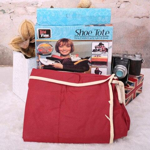 Non-Woven Fabric Shoe Bag Shoe Organizer Wardrobe Closet Organizer 6 Grids Shoe Storage Bags Shoe Rack Case For Travel Home Multan