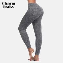 Charmleaks Women Yoga Pants Slim High Waist Sports Sport Wear Fitness Gym Legging Running Tights