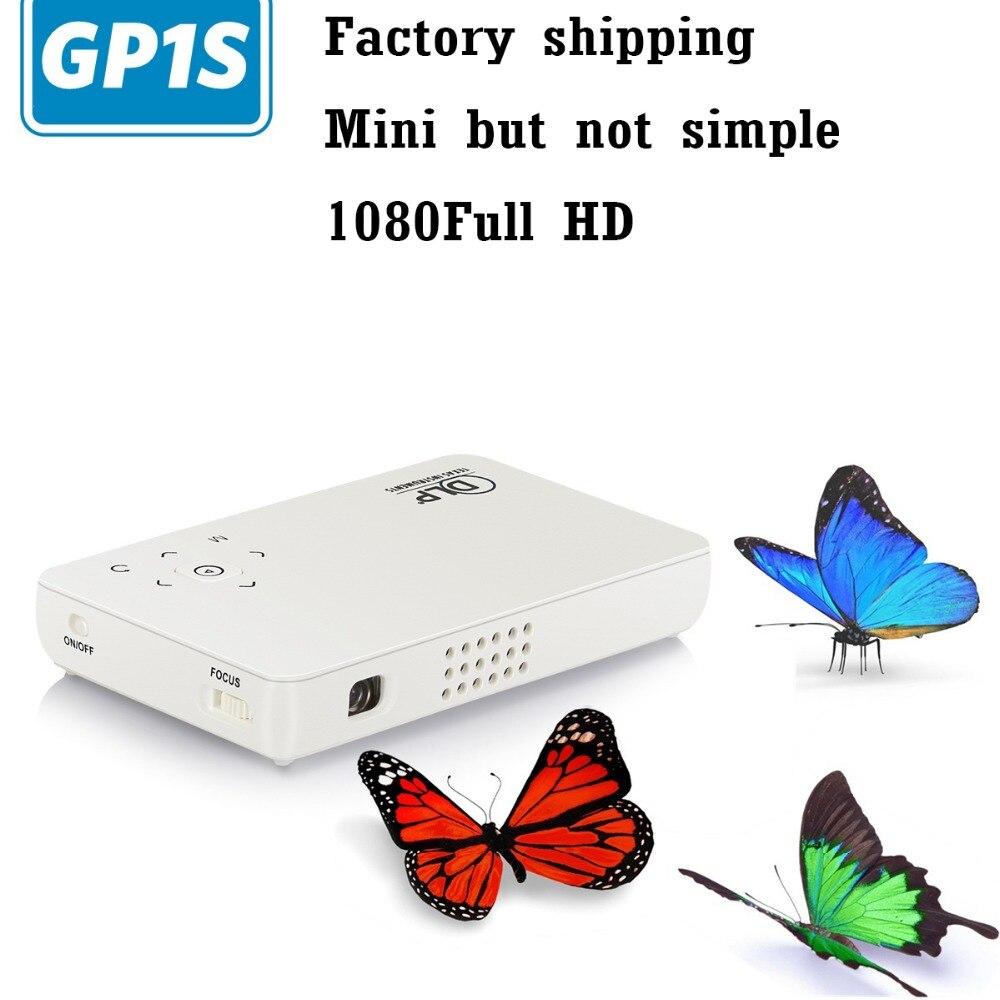 GP1S Mini pocket projector portable Handheld 16:9 1080P HD smart Projector 500 lumen factory shipping