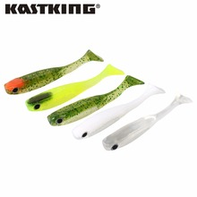 KastKing Soft Bait fishing 6pcs/lot 3.0g/70mm for Fishing Shark Swimbaits Jig Head Soft Lure Fly Fishing Lures