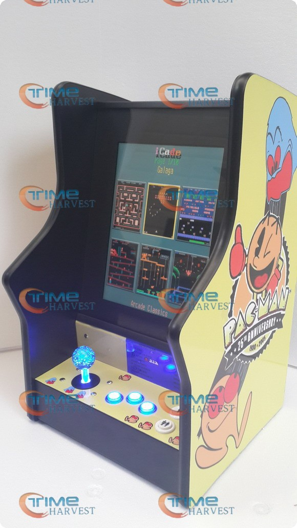 15 inch LCD Mini table top machine with Classical games 60 In 1 Game PCB/Long shaft joystick/Mini verticle type arcade machine