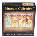 2000 pcs/set Mucha Four Seasons Museum Collection The Famous Painting of World  High Quality Puzzle Best For Child