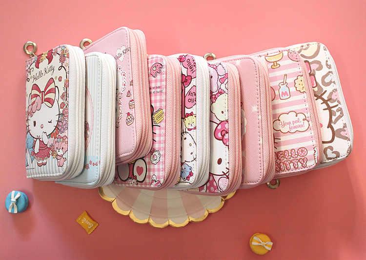d8f0f6b2a ... hello kitty Women Short Wallets PU Leather Female Plaid Purses Card  Holder Wallet Fashion Woman Zipper ...