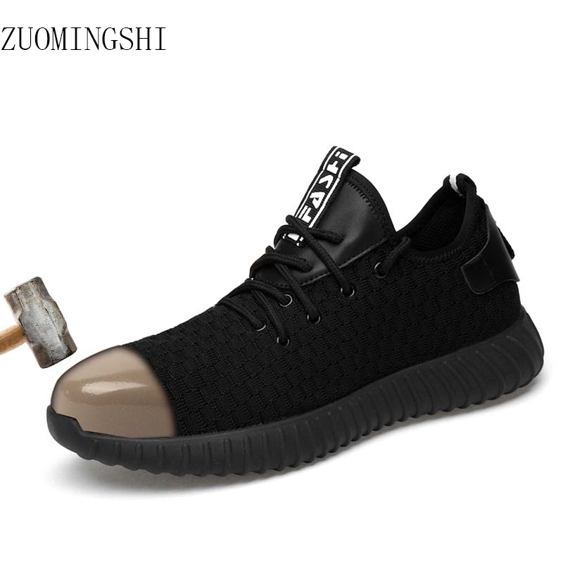 Fashion steel toe light Safety Shoes men bot breathable work Shoes flying  steel toe caps Anti-piercing fiber menFashion steel toe light Safety Shoes men bot breathable work Shoes flying  steel toe caps Anti-piercing fiber men
