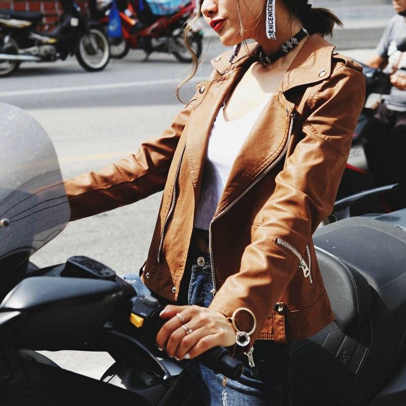 Новинка 2018 года осень зима для женщин Мягкие Куртки из искусственной кожи и пальто для будущих мам леди застёжки молнии Мотоцикл Байкер PU ве...