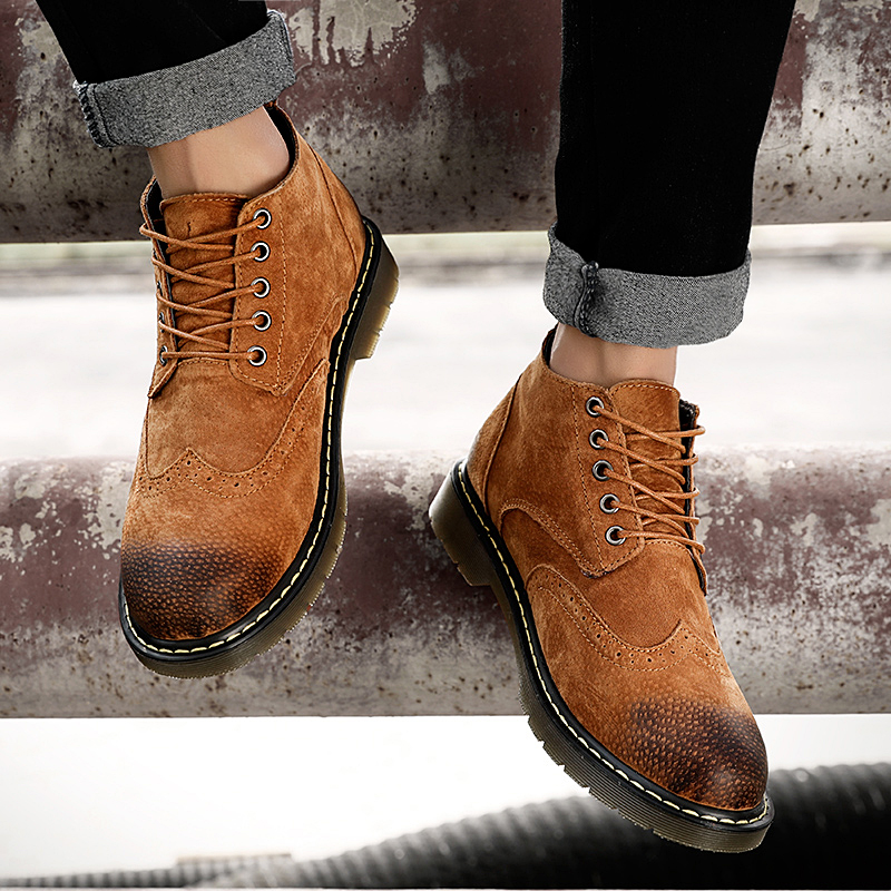 Genuine Leather Men Boots Autumn Winter Ankle Boots Fashion Footwear Lace Up Shoes Men High Quality Vintage Men Shoes zenvbnv genuine leather men boots spring autumn ankle boots fashion footwear lace up shoes men high quality vintage men shoes