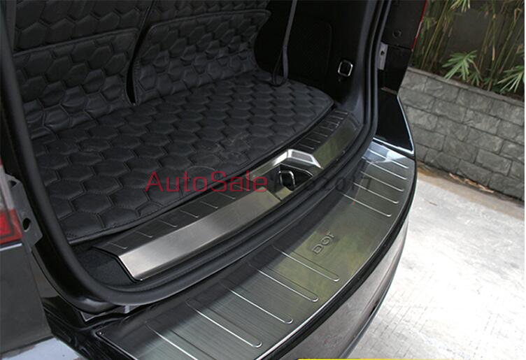 Steel Inner + Outer Rear Bumper Protector Threshold Door Sill Plate Cover trim For DODGE Journey 2009 2010 2011 2012 2013 2014 2pcs fit for 2012 2013 2014 2015 2016 honda crv cr v rear bumper protector cargo step panel cover sill plate trunk trim garnish