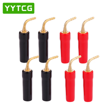 цена на YYTCG  8PCS 2 MM Wire Pin Terminals Plug Banana Plugs Speaker Screw Lock Cable Connectors Rubber Wire Adapter Covers