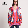 Runway Sweater Women 2017 Luxury Cardigan Floral Print Sweaters
