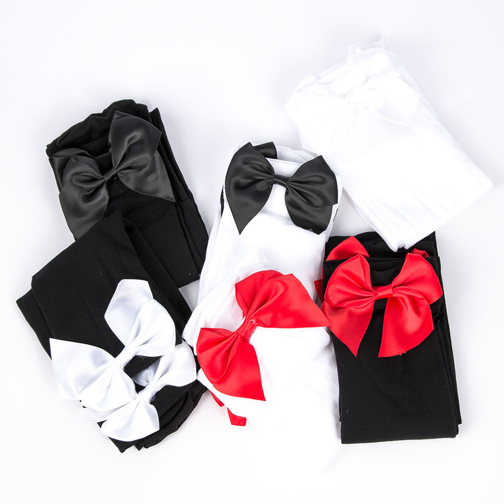 New Arrival Fashion Sexy Women Girl Nylon Stretchy Over The Knee High Socks Stockings Tights With Bows Thigh High Quality