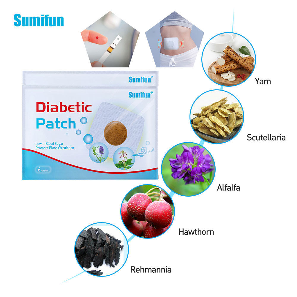 Sumifun 18Pcs Diabetes Patch Reduce High Blood Sugar Diabetic Patch Chinese Natural Herbal Medical Plaster D1789(China)