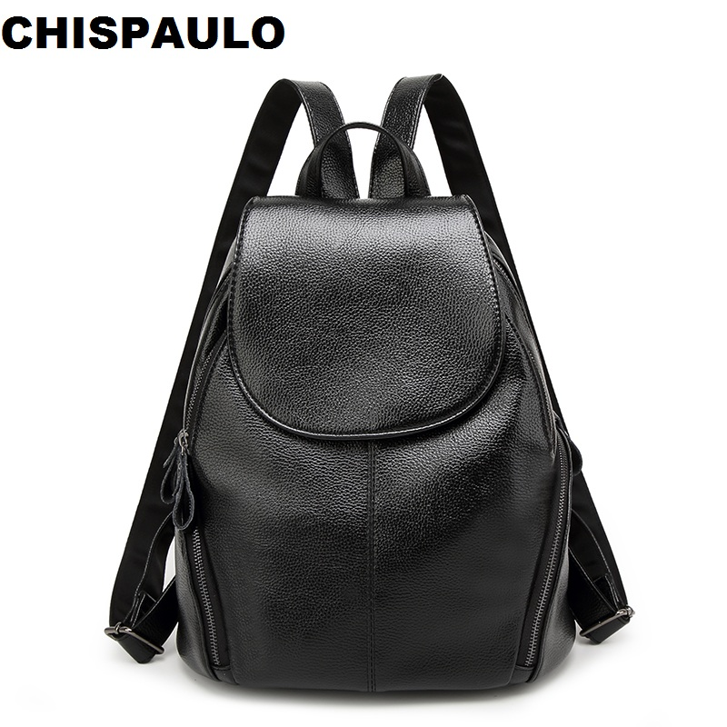Women Genuine Leather Backpack School Bags For Teenagers Girls Travel Bag Designer High Quality Sheepskin Backpacks Mochila N109 student fashion high quality backpacks for teenage girls casual women backpack travel school bag ladies brand designer schoolbag