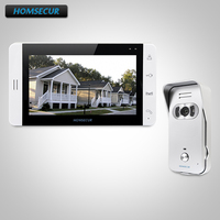 HOMSECUR 7 Video&Audio Smart Doorbell with White Monitor for Home Security 1C1M TC021 S Camera(Silver)+TM703 W Monitor (White)