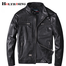 Holyrising Genuine Leather Jacket Men Coats Genuine Sheepskin Leather Male Motorcycle Leather Jacket Winter Coat 18908-5 cheap Leather Suede Regular Full STANDARD NONE Formal Polyester Zippers MANDARIN COLLAR Solid