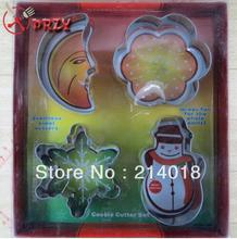 4 style Christmas series cookies mould set Cookie Cutter Mold Cake metal cookies  Biscuit Decorating tools NO.:CO19796 decorating cookies party