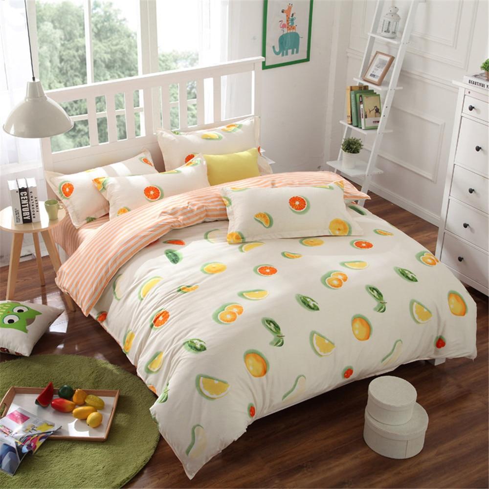 high quality modern orange bedding promotionshop for high quality  - orange fruit bedding bed sets queen king twin kids  pcs watermelon briefquilt comforter duvet cover bedsheets bedlinen