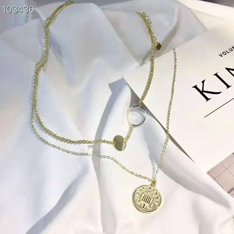 Collier étoile lune collier Double couche chaîne en or collier ras du cou pièce femmes accessoires Collares Femme