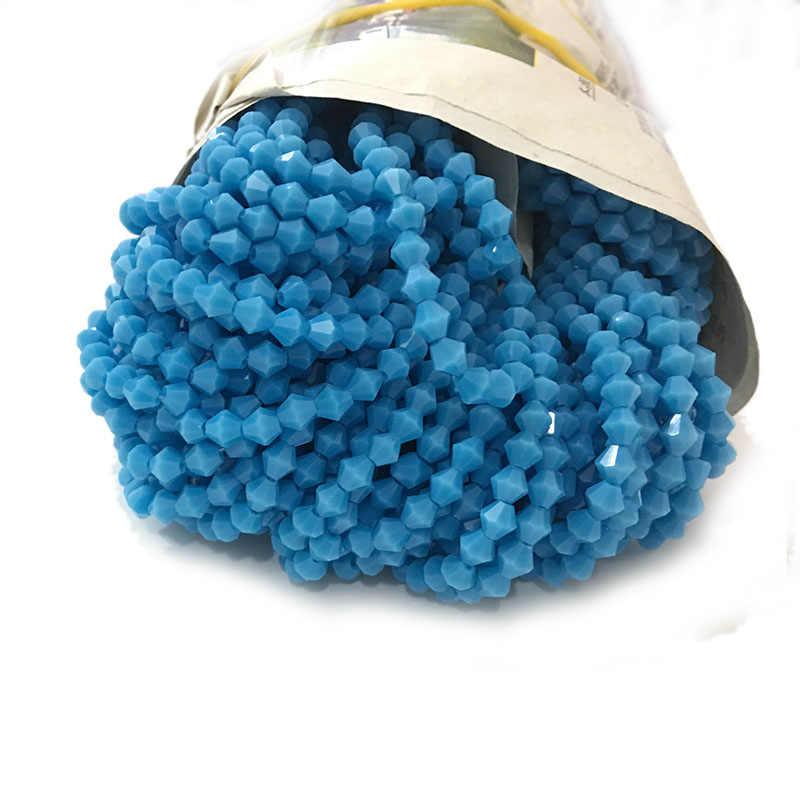 STENYA 4mm Bijoux קריסטל צ 'כי חרוזים Bicone פיאות פלצור שרשרת סרט קשת קשר Diy תכשיטי עגיל צמיד אבזרים