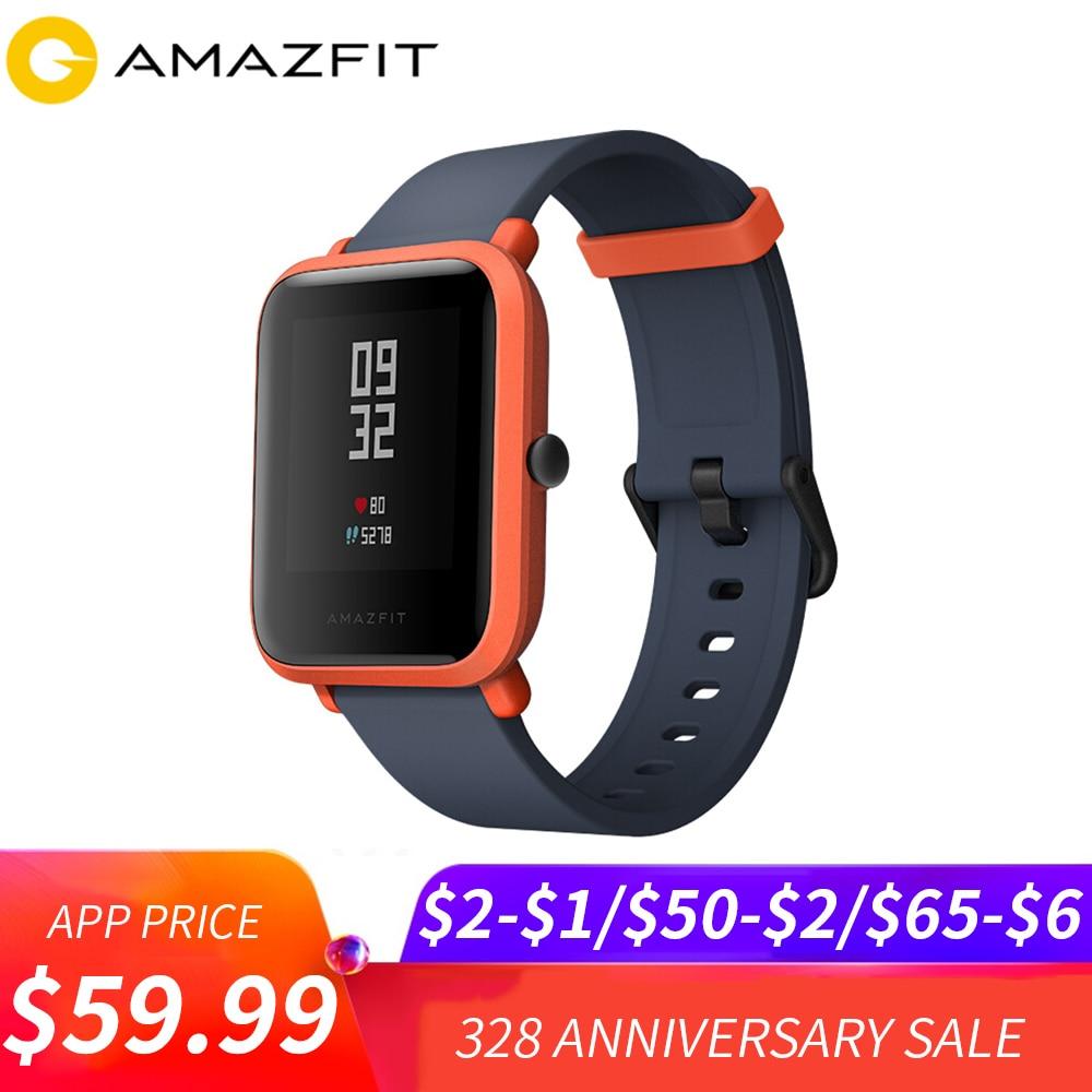 Version internationale Huami Amazfit Bip montre intelligente gps Gloness Smartwatch montre connectée s 45 Jours Veille pour Xiaomi Téléphone MI5 IOS