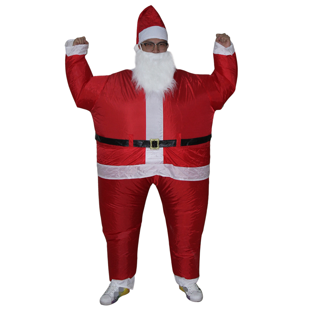 Special Christmas cosplay creative costumes Adult inflatable Santa Claus walking performance clothing free shipping