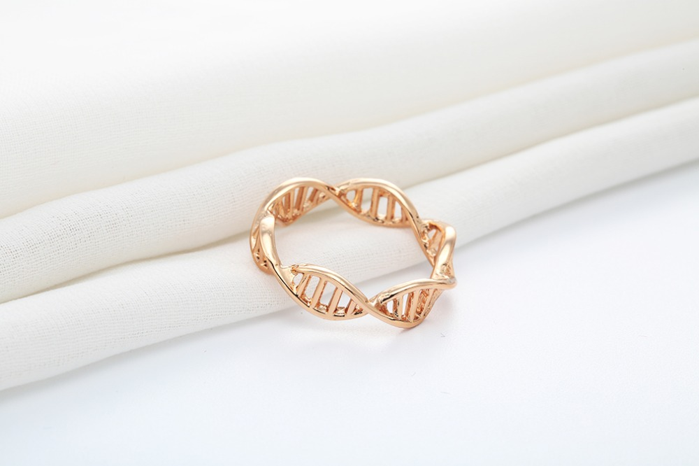 ring sets wedding helix beautiful double geekologie dna rings