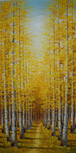 Hand Painted Oil Painting on Canvas Texture Abstract Palette Knife Tree Forest Landscape Canvas Painting Wall Picture for  Room