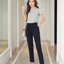 Women New Hot Fashion Ankle-Length Trousers Female Classic High Elastic Waist Harem Pants