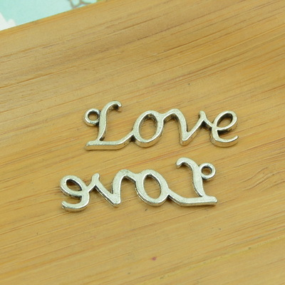 free shipping 100pcslot A2985 antique silver alphabet shape alloy charm pendant fit jewelry making 30x12mm  wholesale
