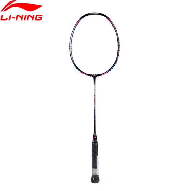Li-Ning 2018 Turbo Charging 9II Daily Badminton Rackets Offensive Single Racket Li Ning Professional Sport Racket AYPM316 li ning professional badminton rackets carbon offensive type brazil 2016 single racket aypl102 zyf113