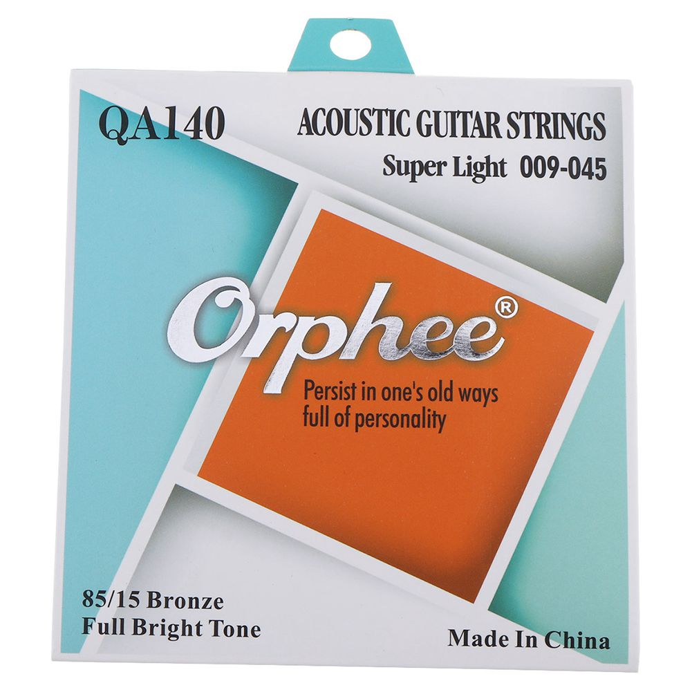 MMFC-Orphee 6pcs/set QA140 Medium Super Light Extra Light Acoustic Guitar Strings 85/15 End-Ball