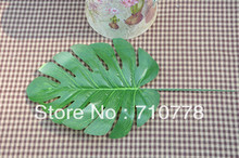 50pcs small monstera deliciosa artificial leaf silk flower fabric leaves home decoration floriculture