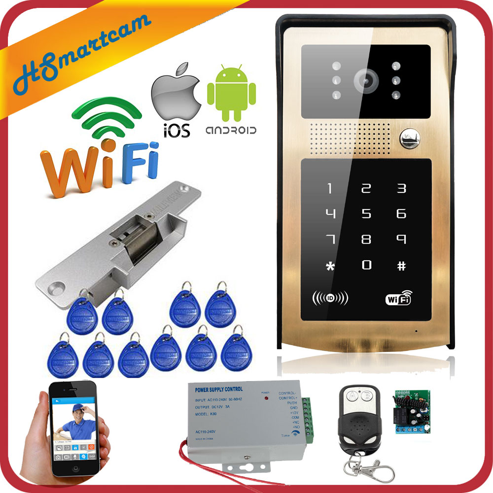 New Wireless IP Doorbell With 720P Camera Video Phone WIFI Door bell RFID Code Keypad Night Vision HD Cameras for IOS Android hiperdeal smart house new wifi ip video door phone intercom with rfid keypad unlock android ios app