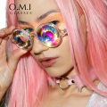 Who Cutie 2017 Kaleidoscope Sunglasses VERSAE Women Retro Round Crystal Lense Prism Glasses Lady Gaga Celebrity Cosplay Party