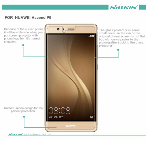 Image 3 - 2 pcs/lot screen protector for Huawei Ascend P9 NILLKIN Crystal Super clear protective film with retailed package-in Phone Screen Protectors from Cellphones & Telecommunications on