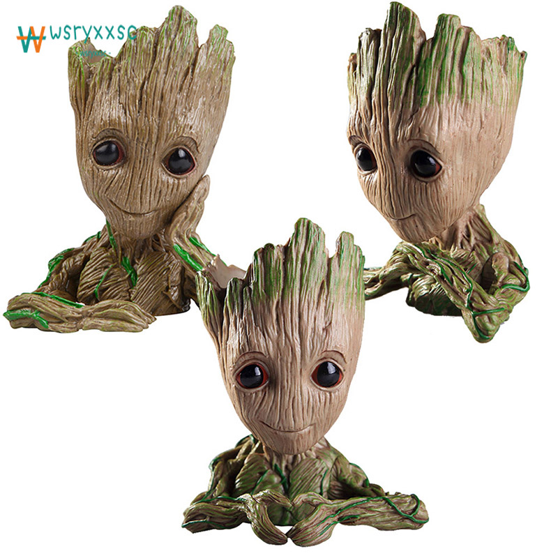 14 cm Topfpflanze Dekorationen Grootted Guardians Of The Blume schutz Modell Baum Mann Baby Blume Töpfe Dekorative