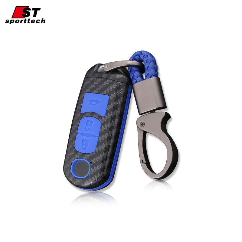 Car Styling Key Case For MAZDA 3/6 Axela CX-3/4/5/9 ATENZA Accessoires For MAZDA Keychain with Key Ring Case Cover Holder Parts
