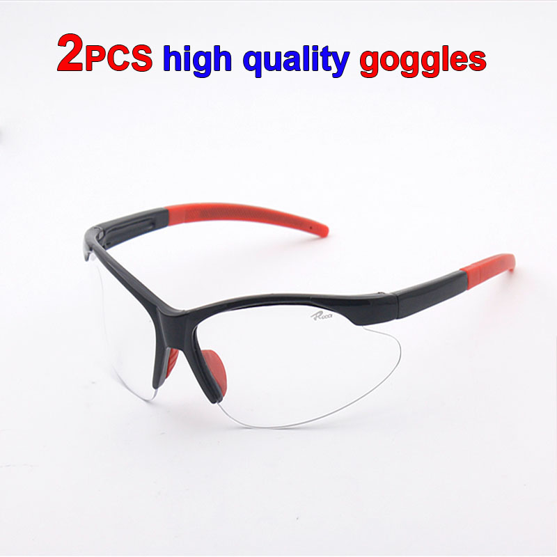 2PCS High Quality PC Eye Protector Impact Resistant Protective Glasses Goggles Dust Storm Cycling Dustproof Glasses Safety Work