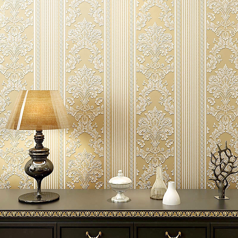 Modern 3D Non-woven Vertical Stripes Wallpaper Minimalist Bedroom Living  Room Background Wall Paper Volume