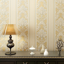 цена на Modern 3D Non-woven Vertical Stripes Wallpaper Modern Minimalist Bedroom Living  Room Background Wall Paper Volume