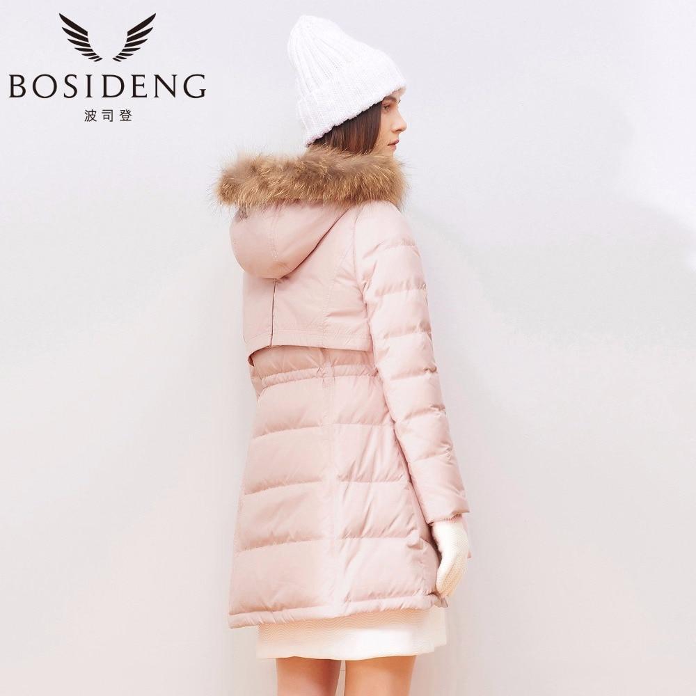 pretty nice 3ff2d 5d456 US $112.35 |BOSIDENG delle donne abbigliamento caldo di spessore giù  cappotto piumino Un tipo grande tasca larga lap naturale collo di pelliccia  con ...