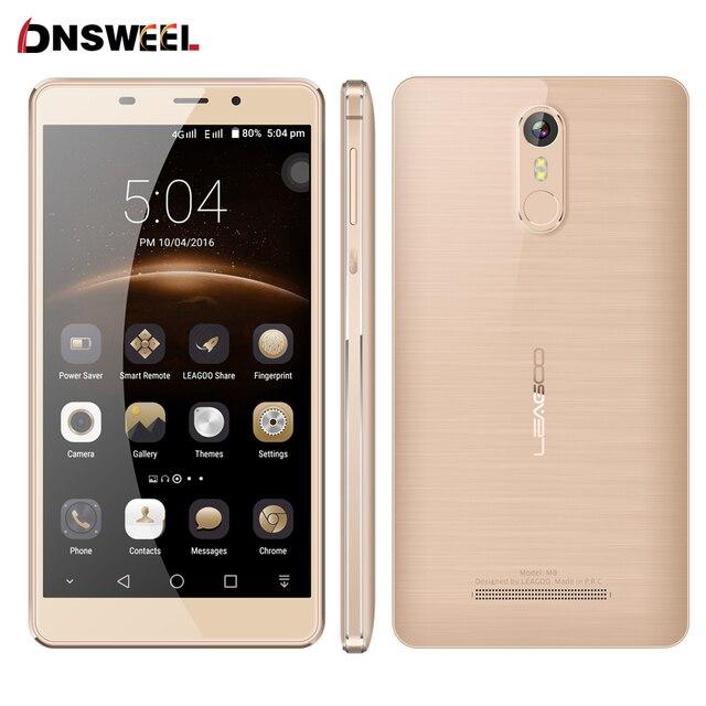 """Leagoo M8 Смартфон 5.7 """"HD IPS Android 6.0 MT6580A Quad Core 2 ГБ RAM 16 ГБ ROM 3500 мАч Батареи 13.0 МП Отпечатков Пальцев ID телефон"""