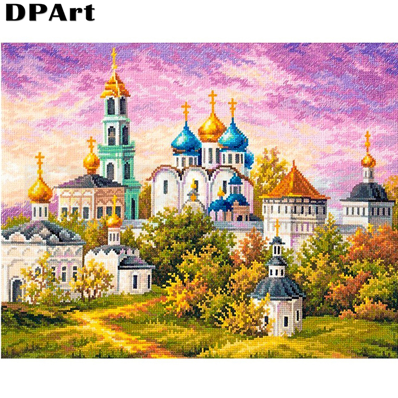 Magician Academy 5D diamond painting square  round diamond embroidery mosaic Castle diamond picture art home decoration
