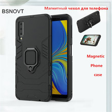 For Samsung Galaxy A7 2018 Case Magnetic Finger Ring Anti-knock Cover A750