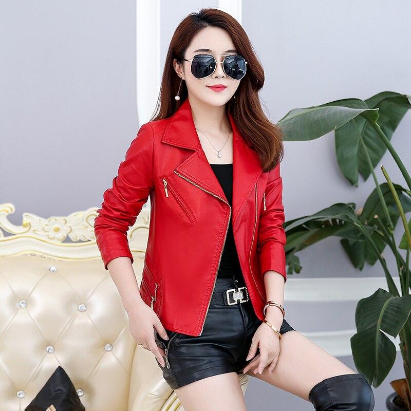 Manteau Streetwear Noir En Zipper D'hiver Femmes Cuir Faux Ceinture bourgogne Cool Veste Daim Moto Dames rouge Vestes wz7w6f