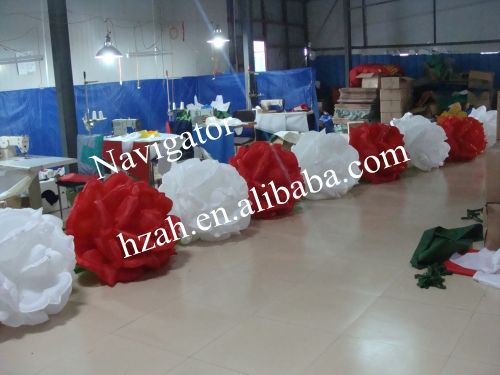 Big Inflatable Rose Flowers for Wedding Decoration