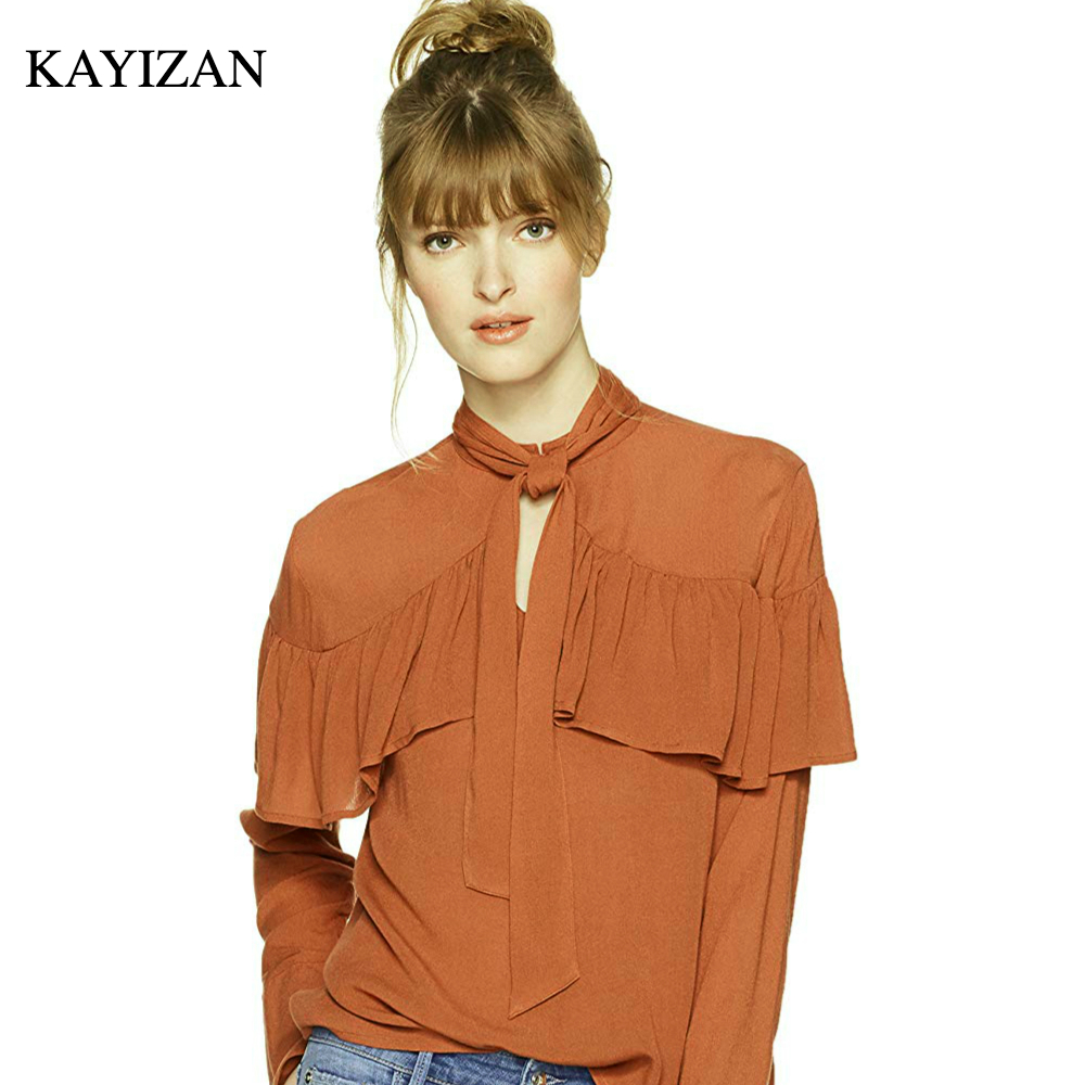 KAYIZAN Bohemian Women Full Sleeves Cape Ruffle Summer