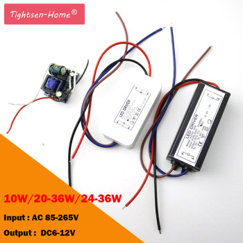 12V LED Driver 10W 20-36W 24-36W for 6-12V 600mA 2A transformer for 3*3W input AC85-265V spot light/flood light High Quality image